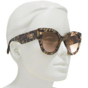 $228 *NEW*  FENDI ROMA 52mm Cat Eye Sunglasses